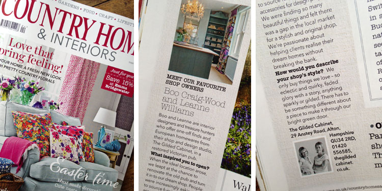country home interiors favourite shop this month is the gilded cabinet
