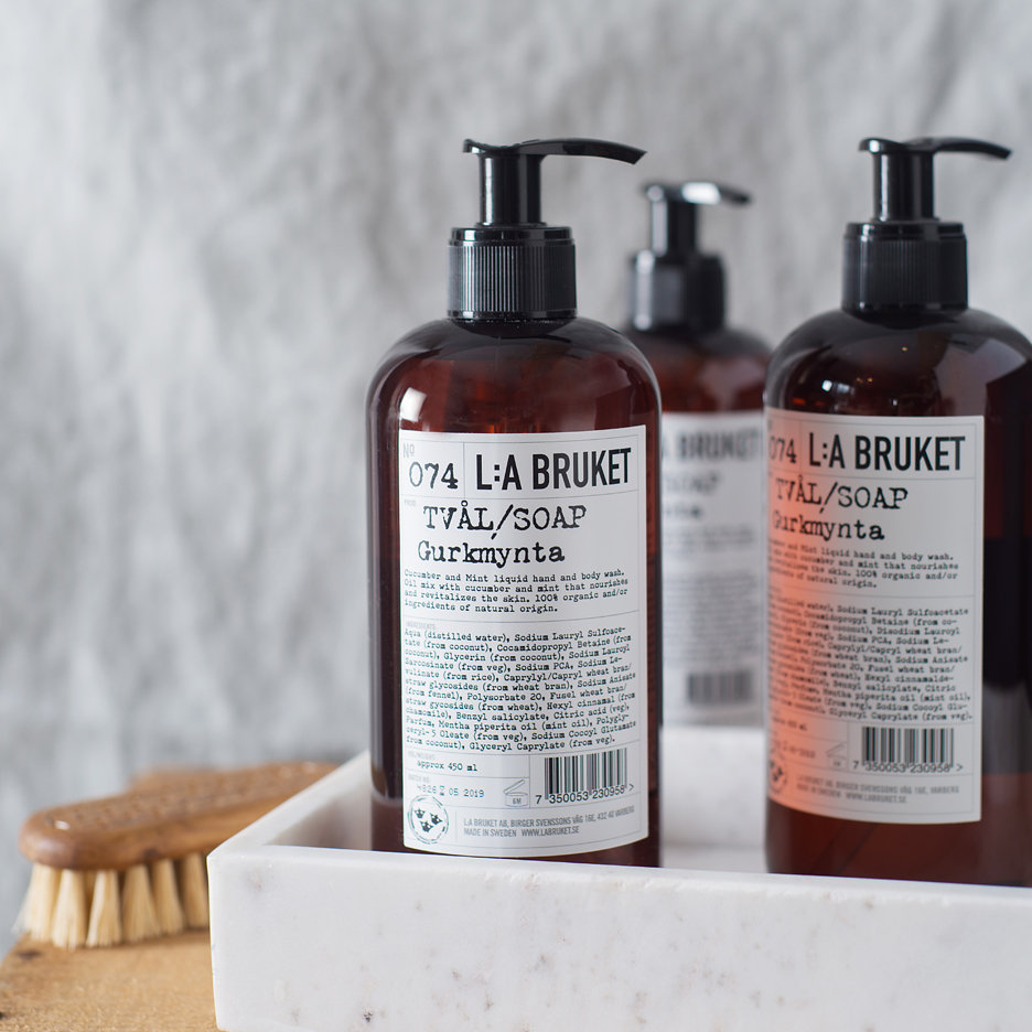 LA Bruket Hand & Body Wash, Cucumber & Mint