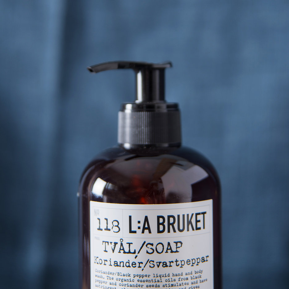 LA Bruket Hand & Body Wash, Coriander & Blackpepper
