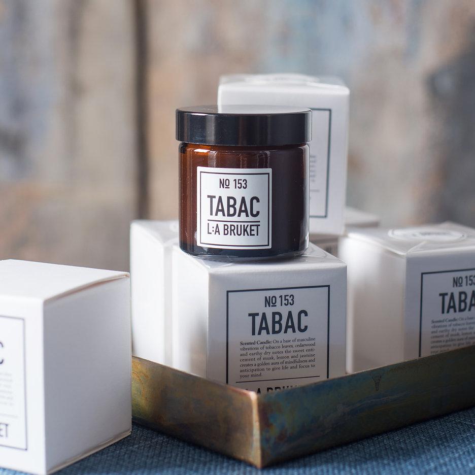 LA Bruket Tabac candle