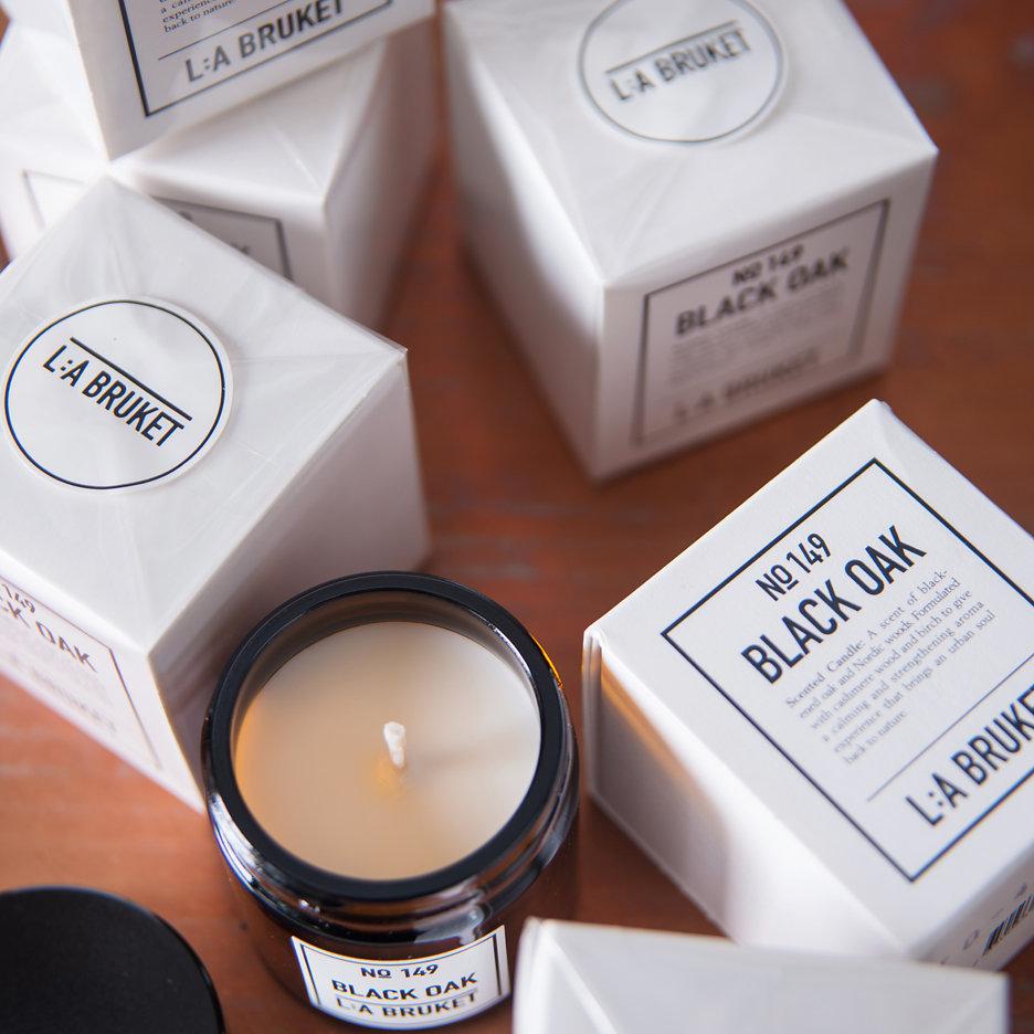 LA Bruket Black Oak candle