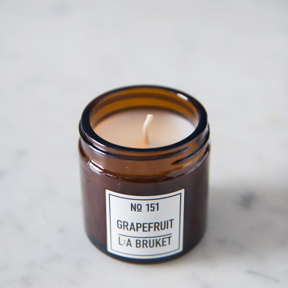 LA Bruket Grapefruit candle