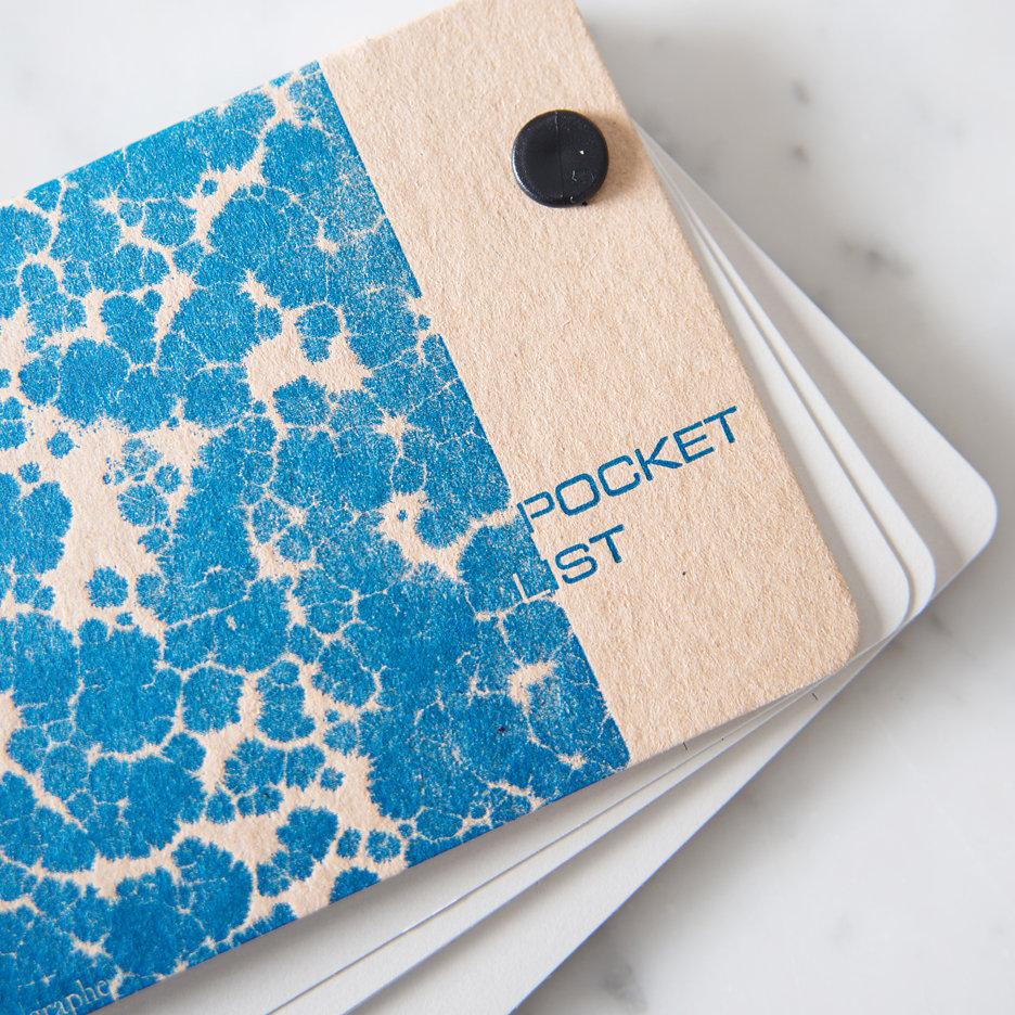 Pocket list notebook indigo ink