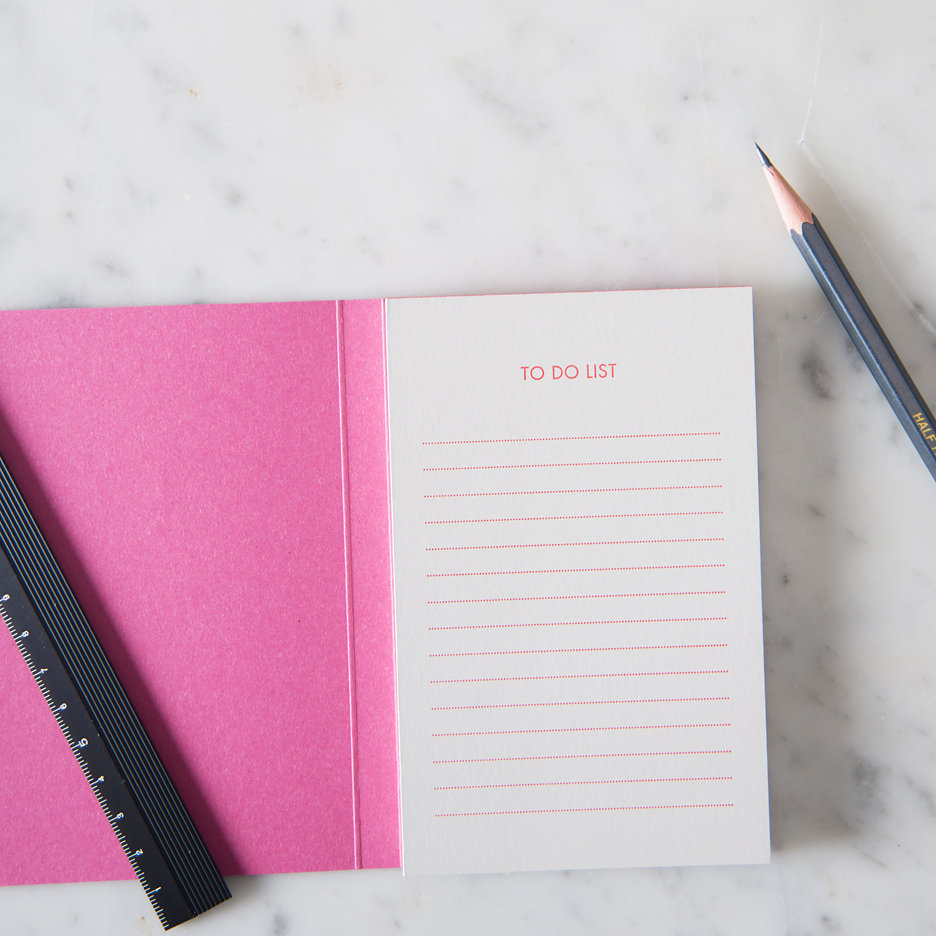 To Do notebook pink