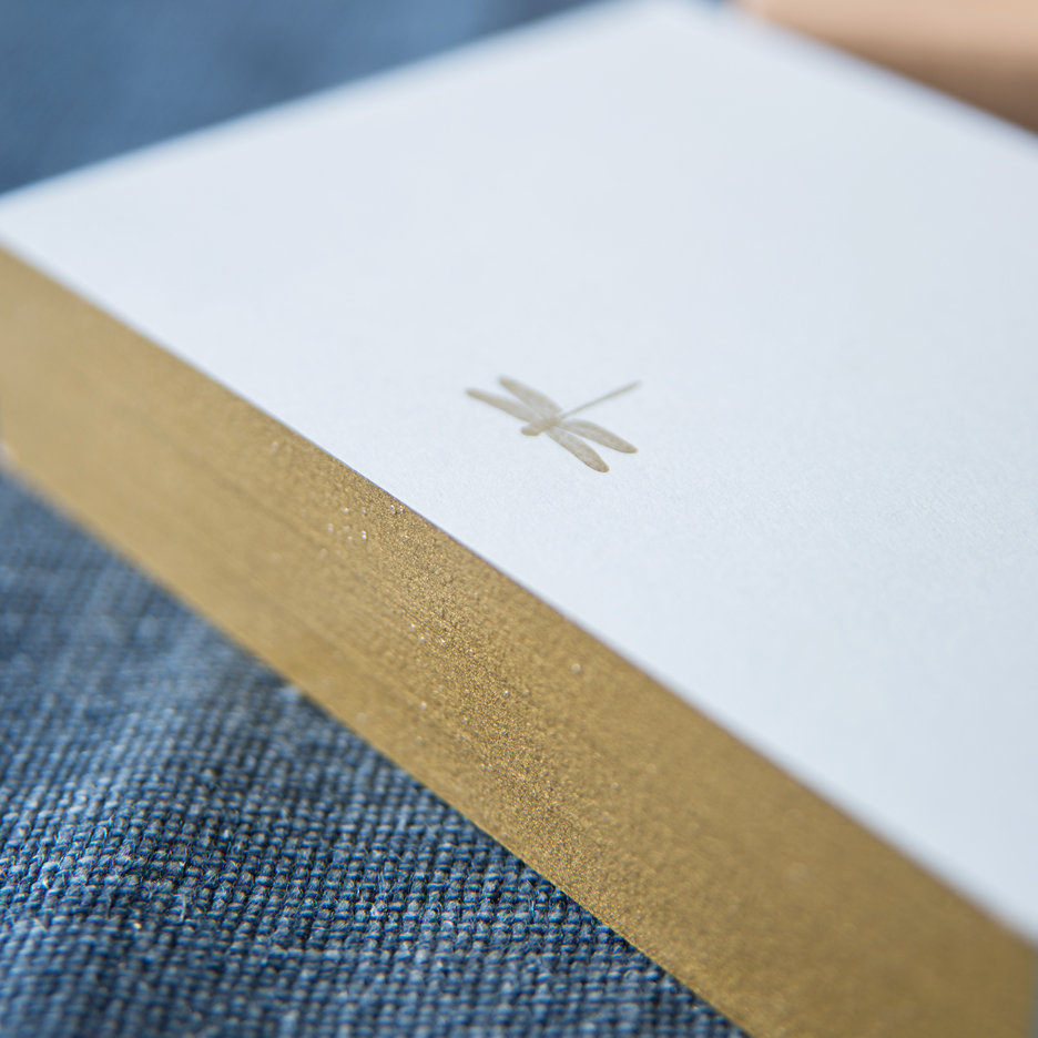 Mega bloc writing pad with letter pressed dragonfly