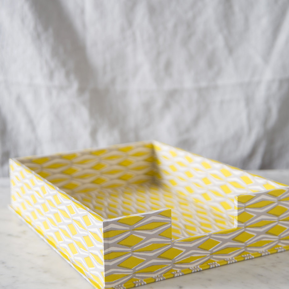 A4 Letter tray acid yellow and grey
