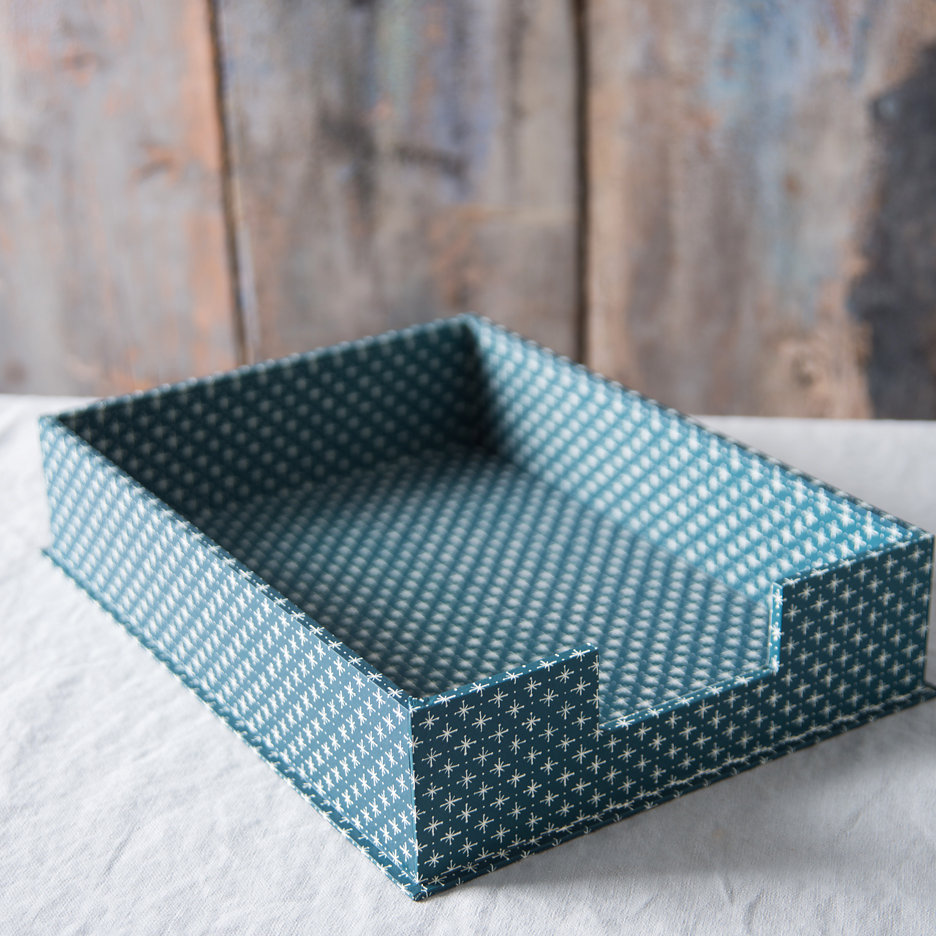 A4 letter tray petrol blue