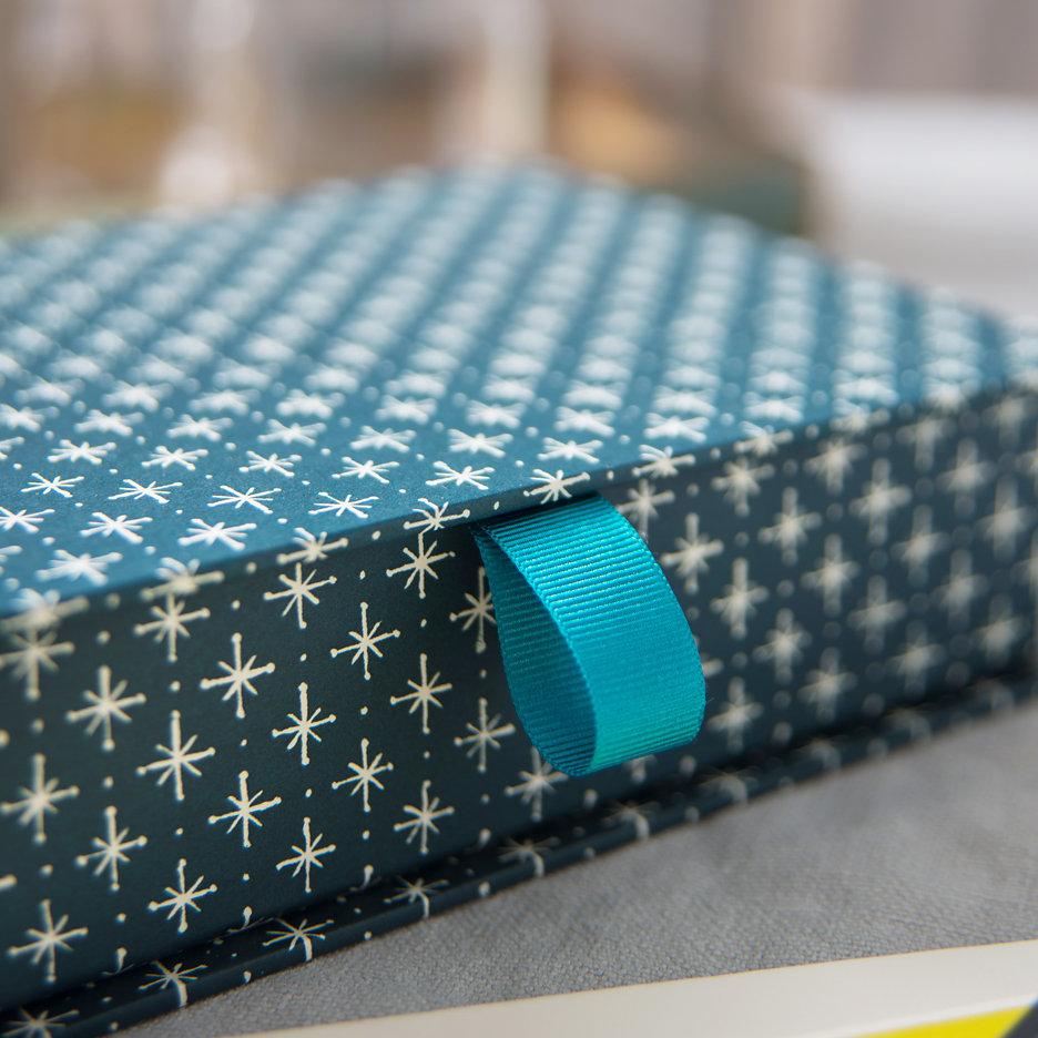Postcard box petrol blue
