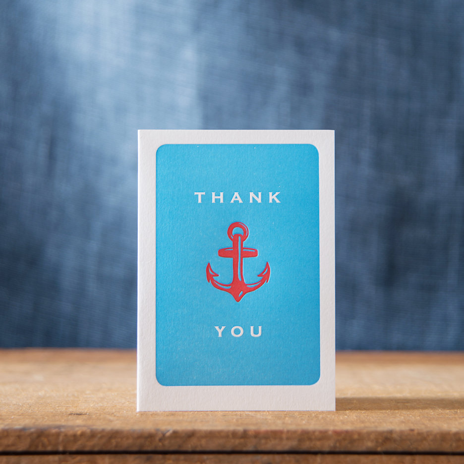 Anchor Thank You notecards