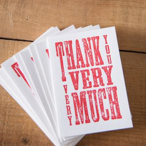 Red Thank You notecards