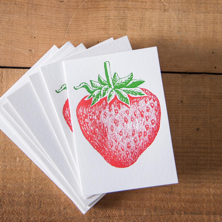 Strawberry notecards