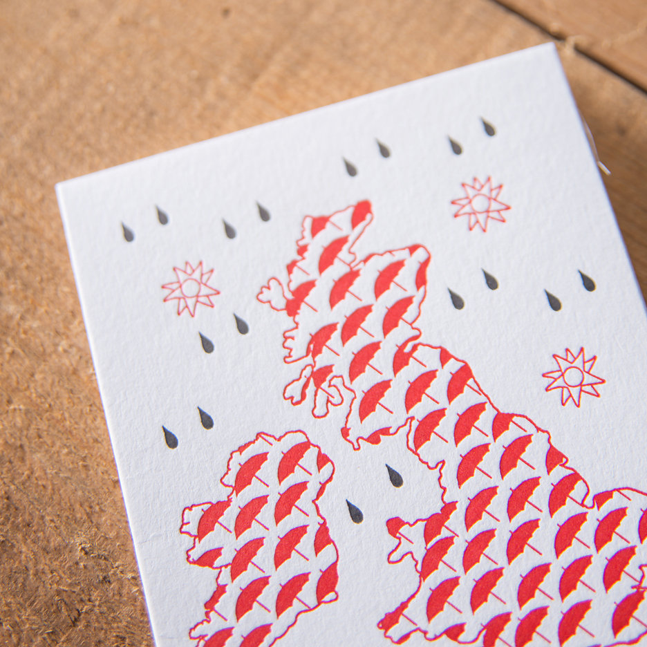 Rainy Great Britain notecards