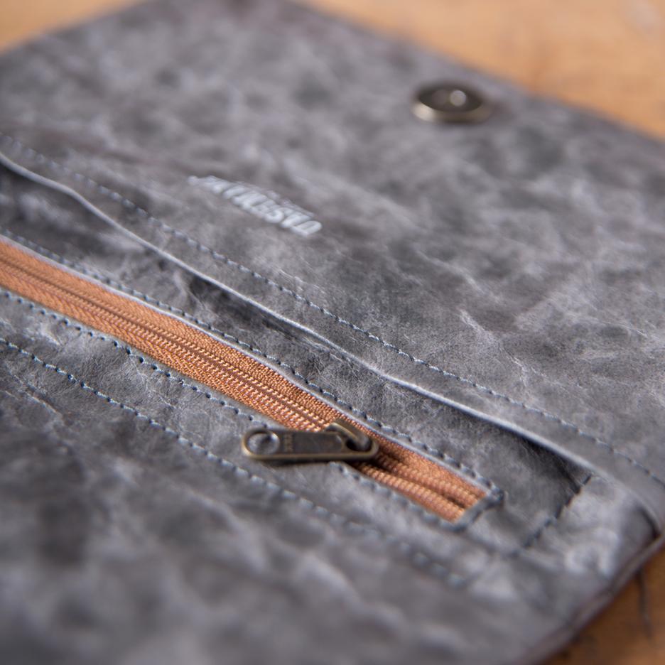 Charcoal grey Uashmama clutch bag