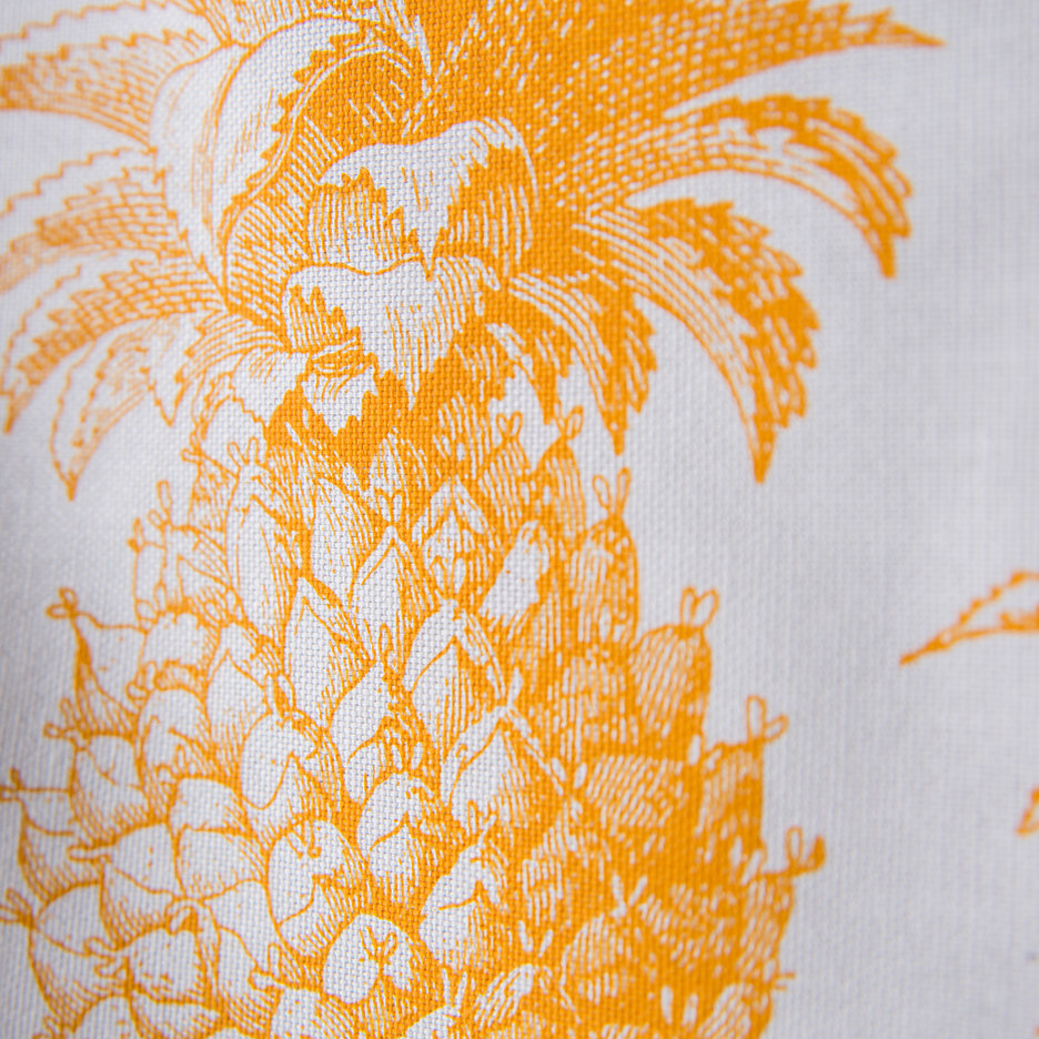 Thornback and Peel yellow pineapple tea towel
