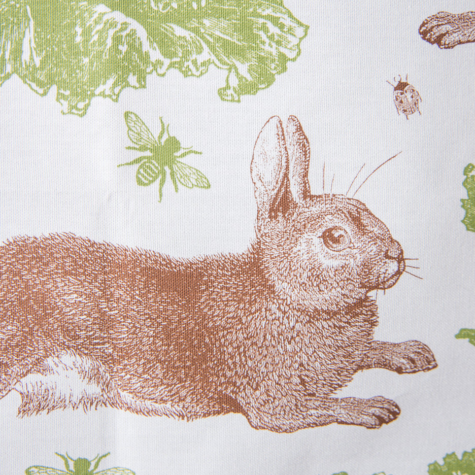 Thornback and Peel rabbit and cabbage tea towel