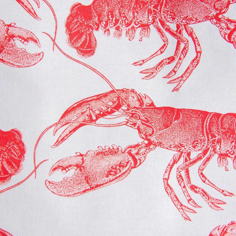 Thornback and Peel red lobster tea towel