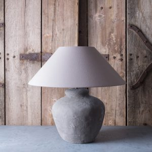 Large handmade urn table lamp