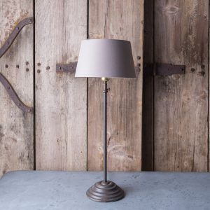 Table lamp adjustable height, cast iron with aged bronze finish