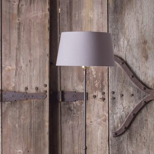 Standard lamp adjustable height, cast iron with aged bronze finish
