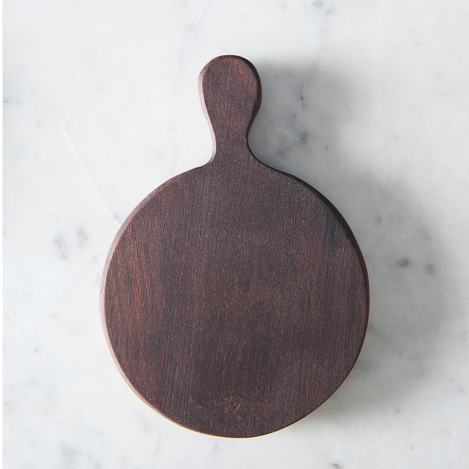 Mini round walnut chopping board