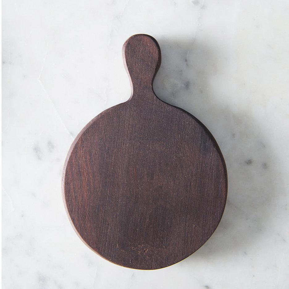 Mini round walnut chopping board
