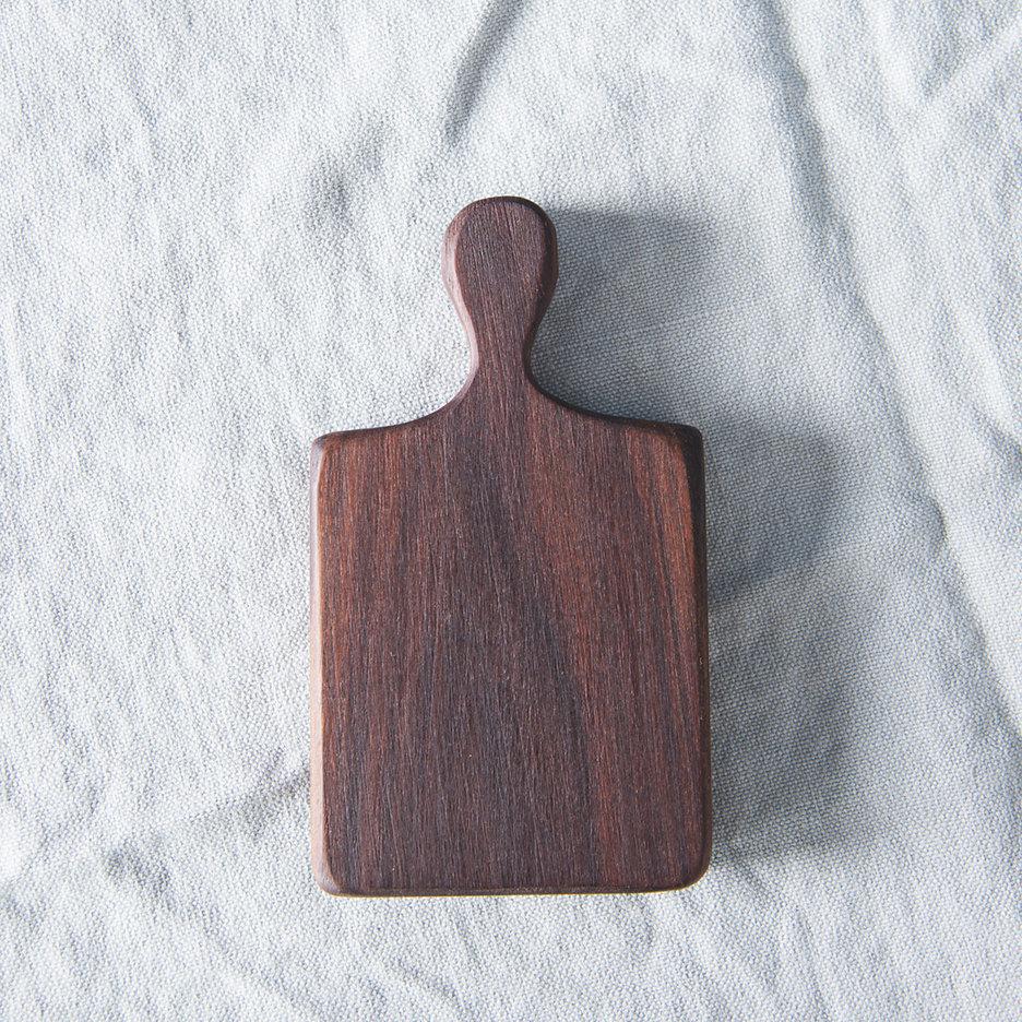 Mini walnut oblong chopping board