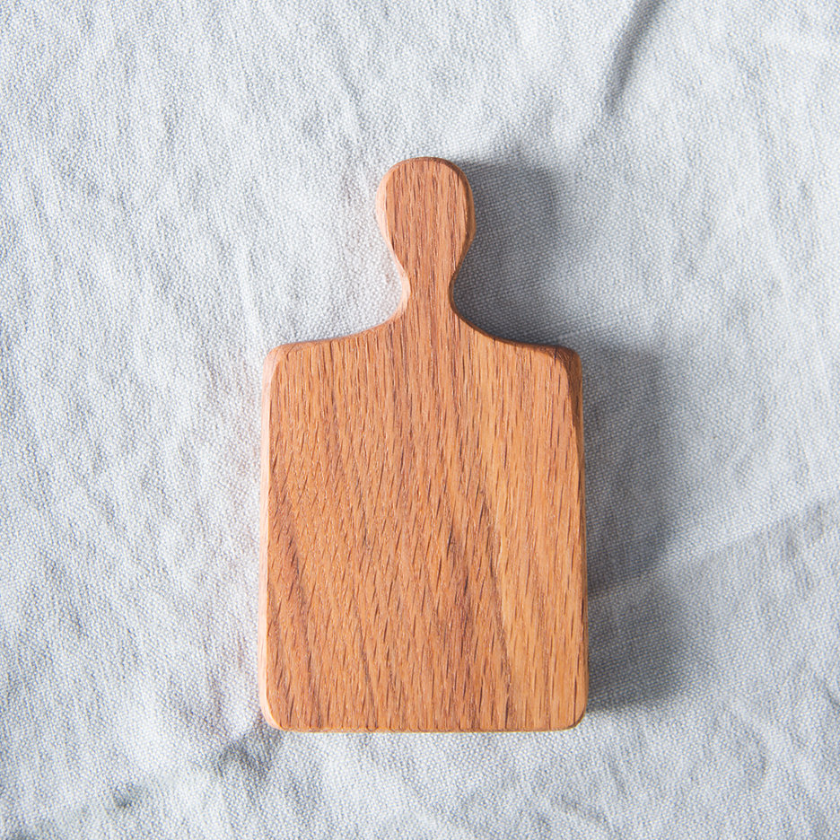 Mini oak oblong chopping board