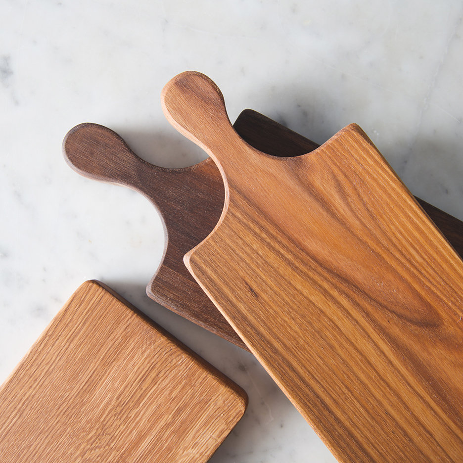 Wooden oblong chopping boards
