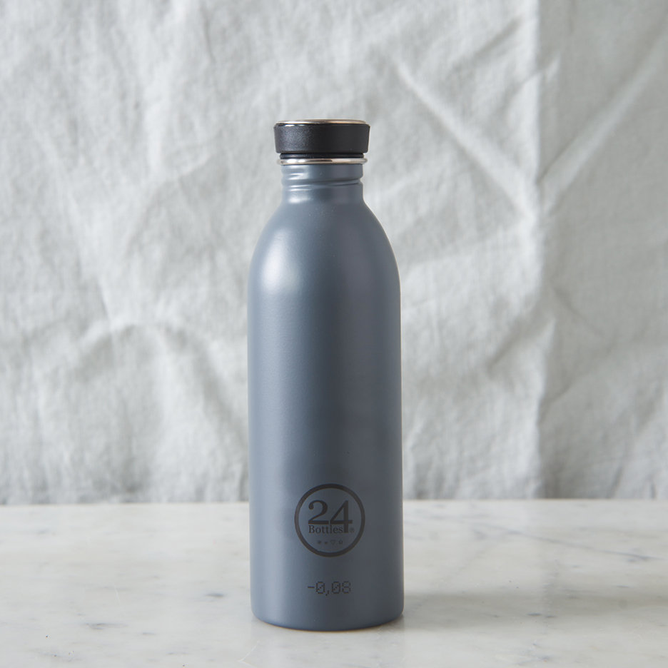 Stainless steel urban water bottle grey