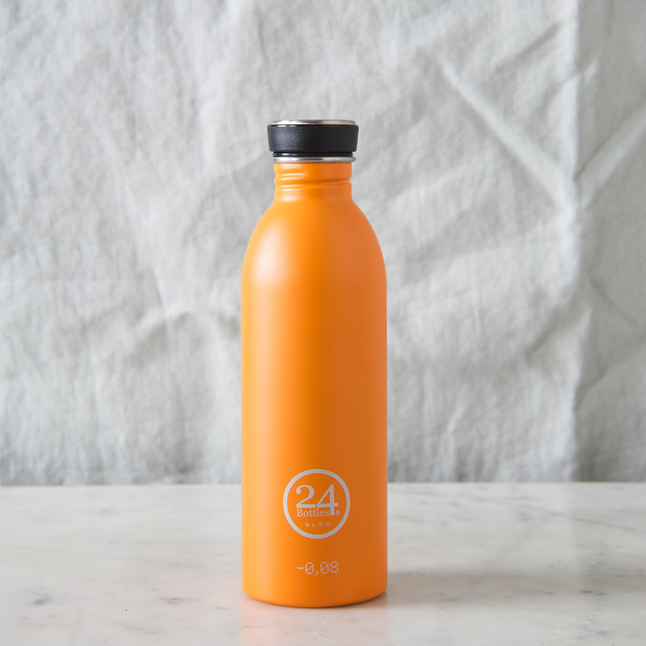 Stainless steel urban water bottle bright orange
