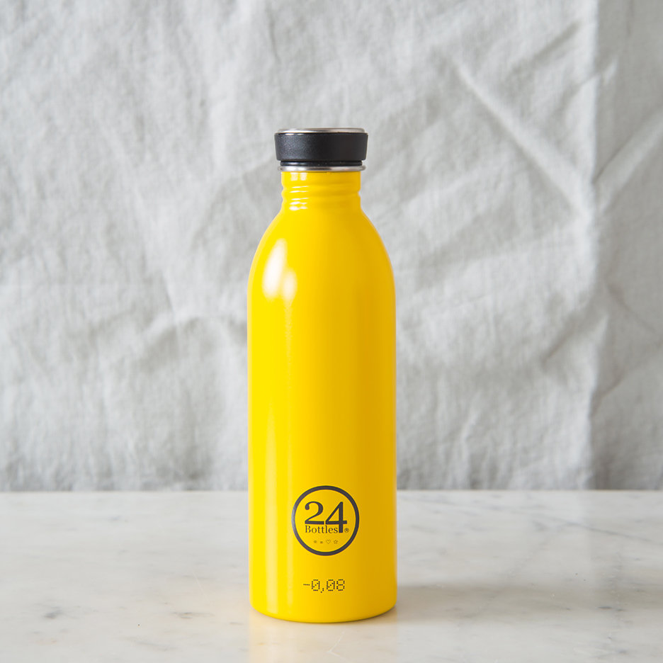Stainless steel urban water bottle taxi yellow