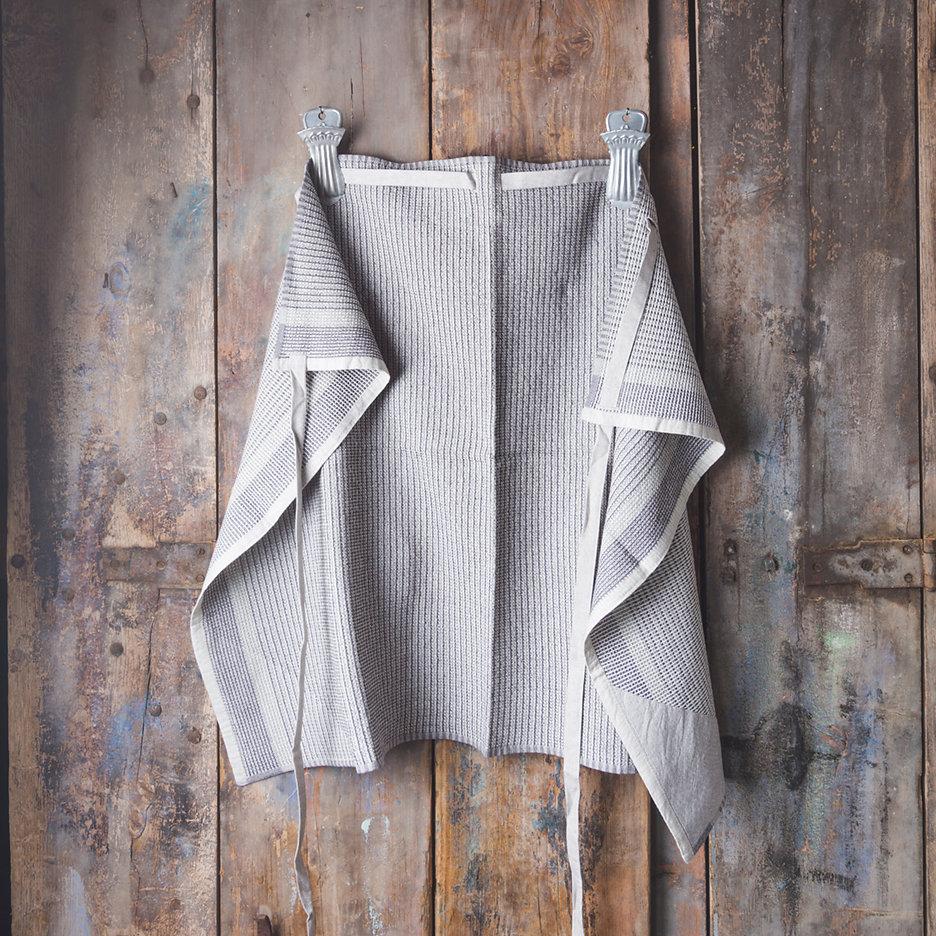 Manly man cloth apron black grey