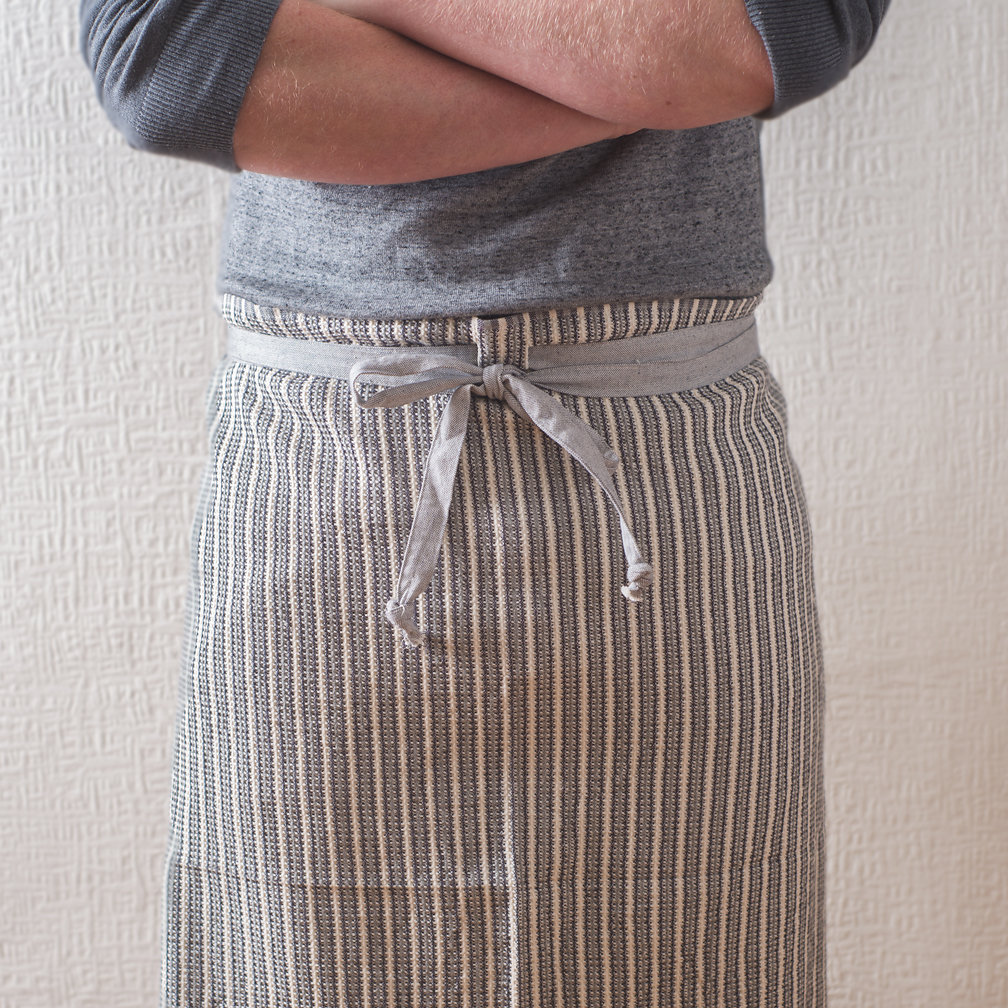 Manly man cloth apron white grey
