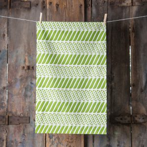 Thornback and Peel green pea pods tea towel