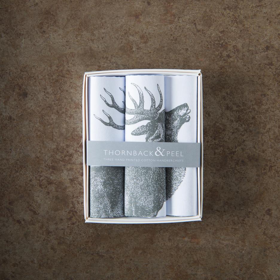 Stag handkerchief Thornback & Peel