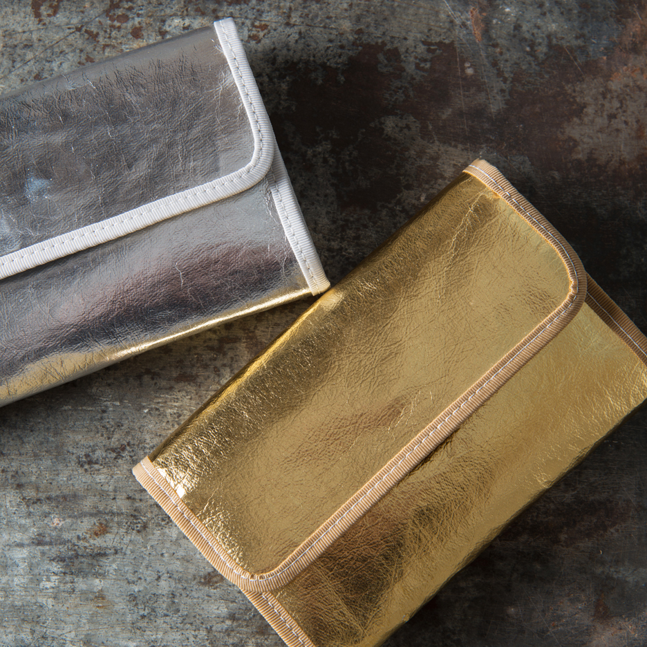Metallic gold and silver Uashmama wallet