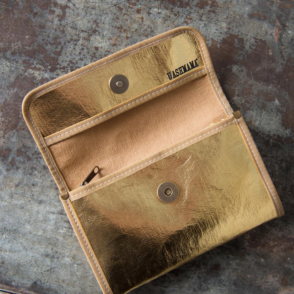 Metallic gold Uashmama wallet