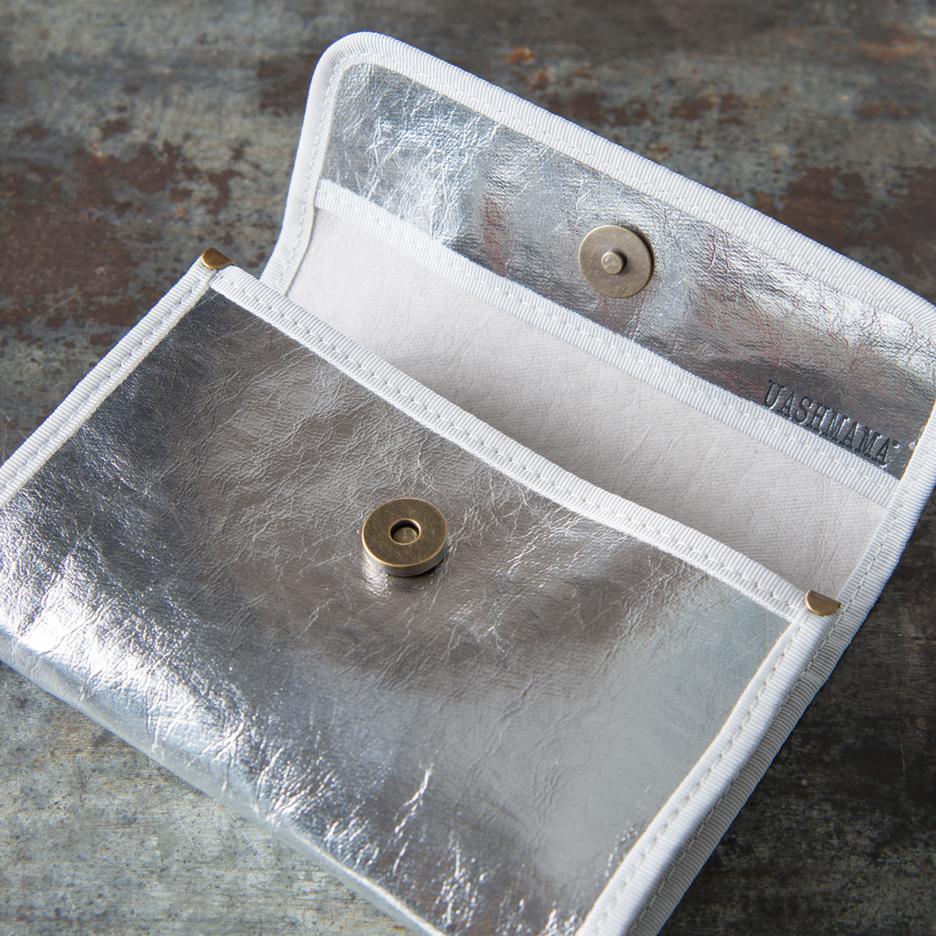 Metallic silver Uashmama wallet