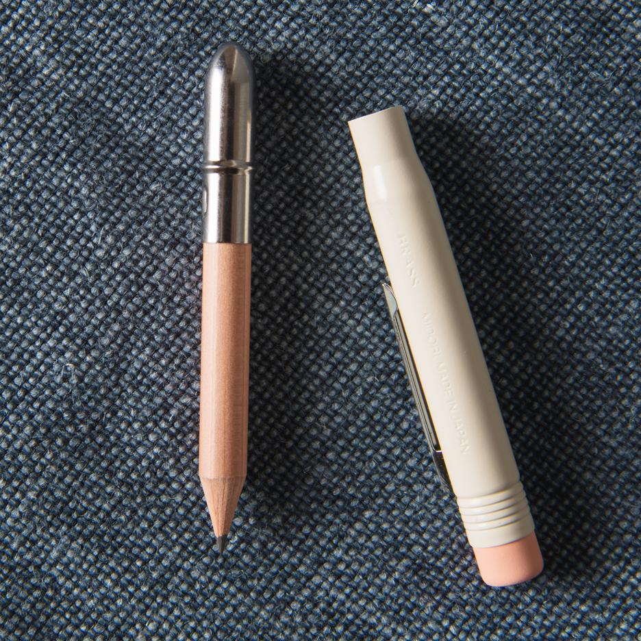 White bullet pencil