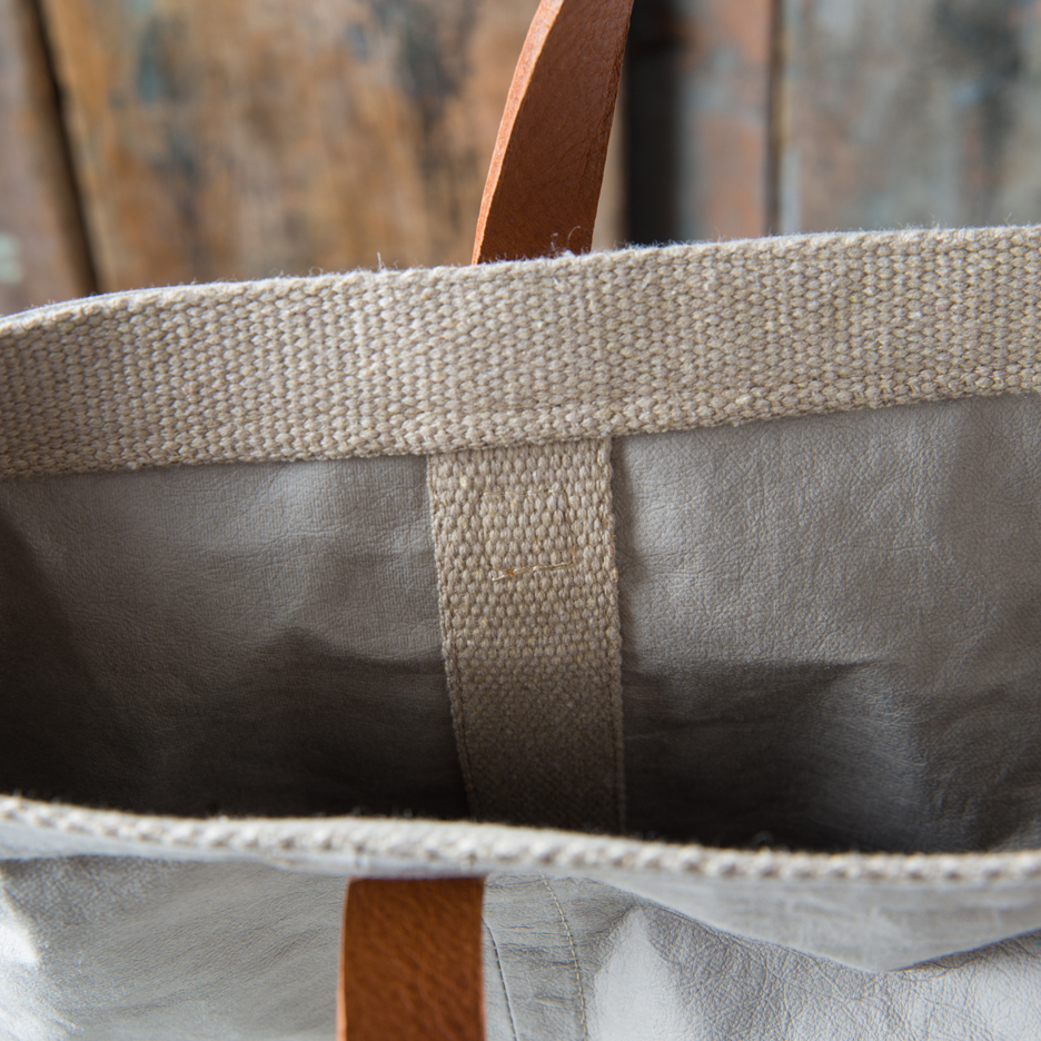 Dove grey shopper bag Uashmama