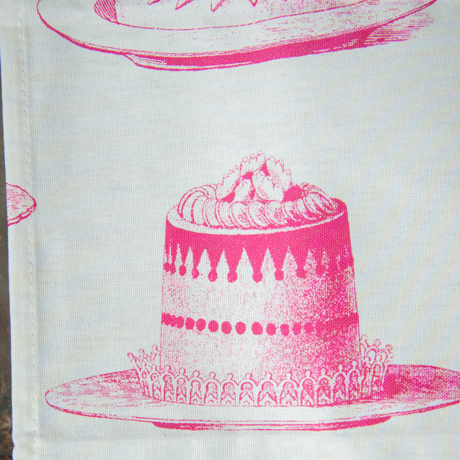 Thornback and Peel bright pink jelly tea towel