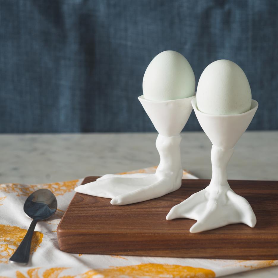 porcelain ceramic duck feet egg cups
