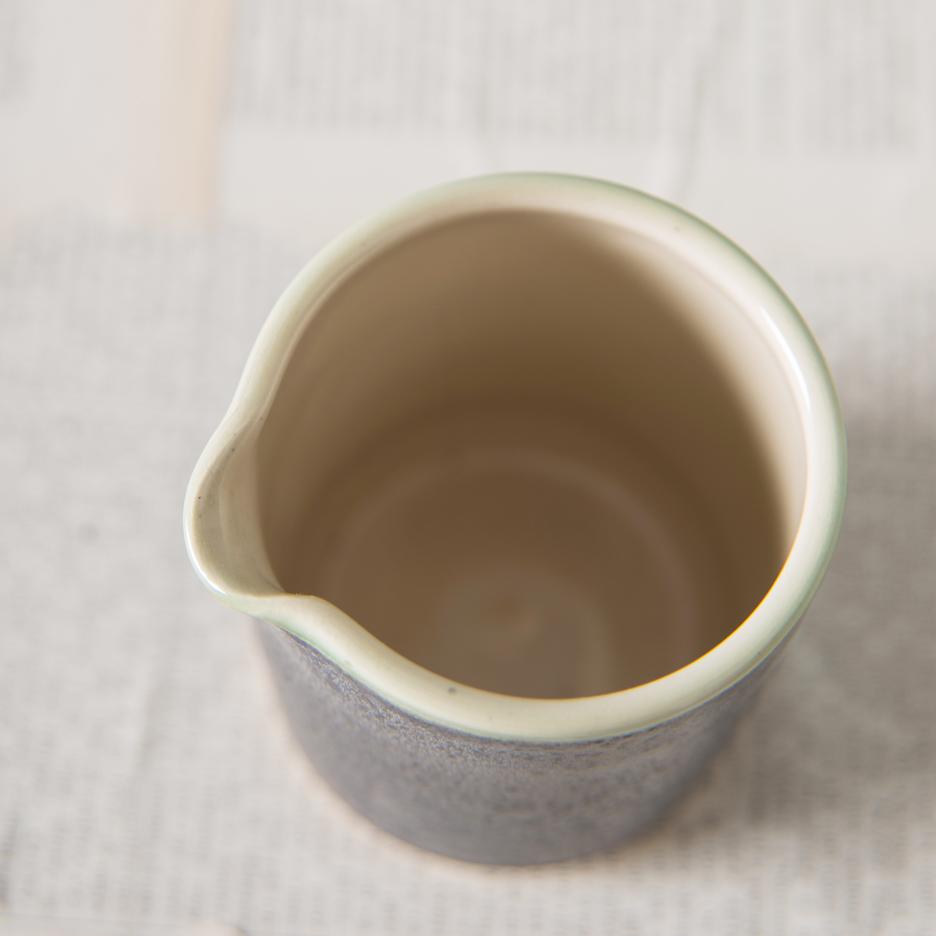 French ceramic espresso jug handmade charcoal