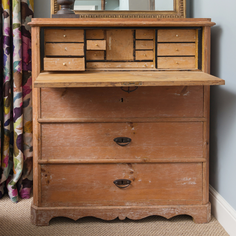 Antique Swedish desk and drawers