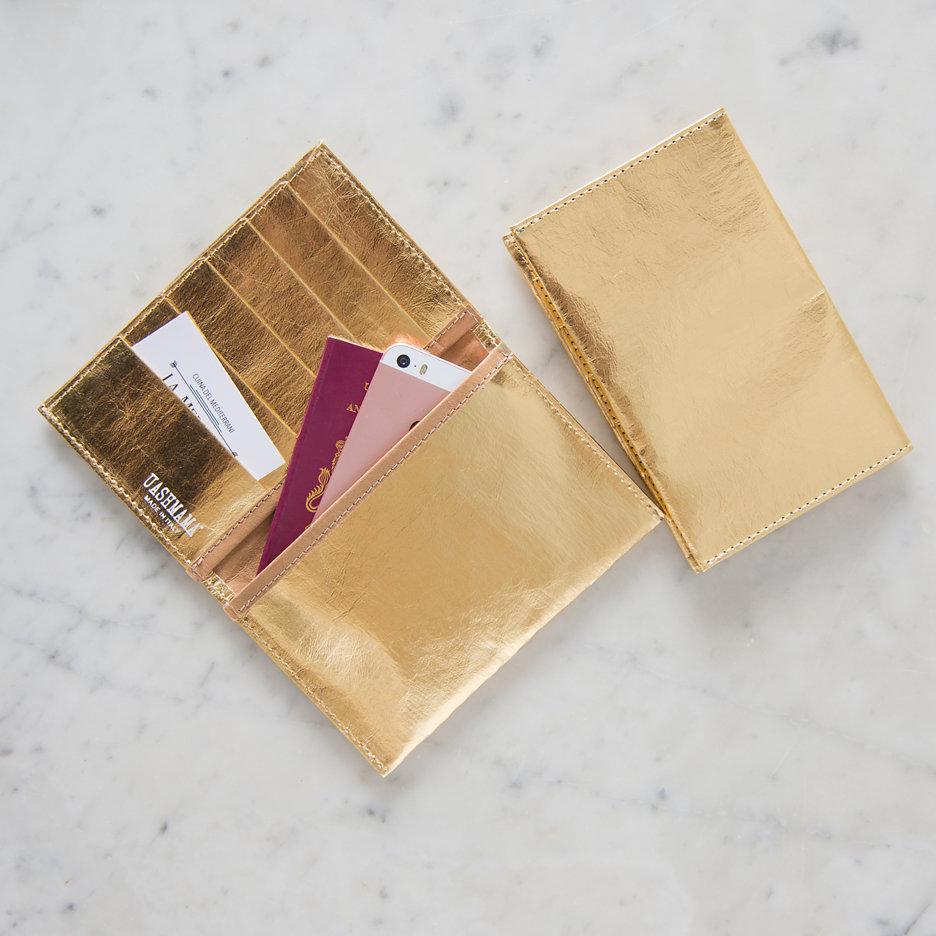 Metallic gold travel / card wallet Uashmama