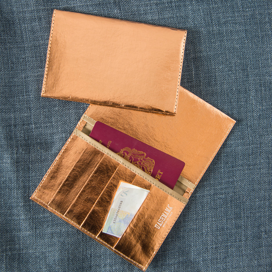 Metallic rose gold travel / card wallet Uashmama