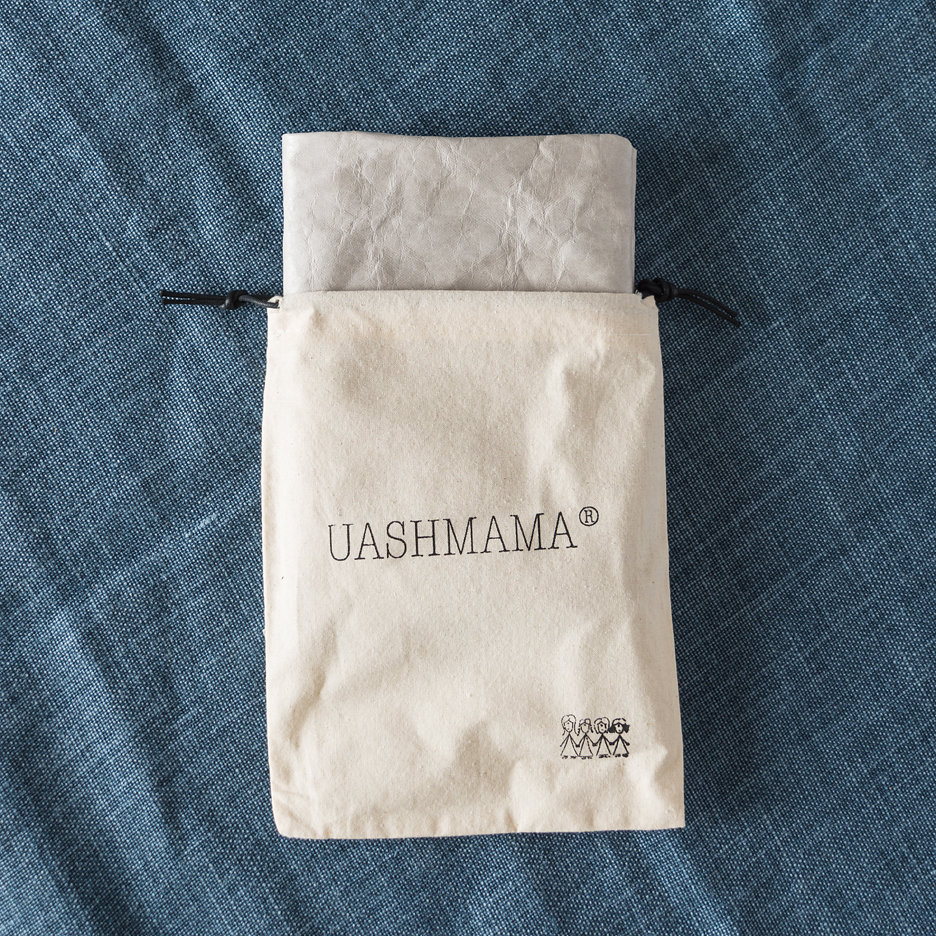 Dove grey Uashmama clutch bag
