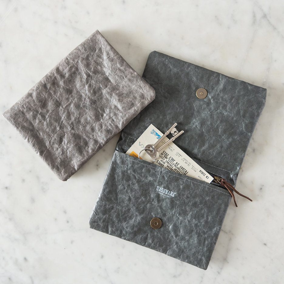 Charcoal grey Uashmama clutch bag