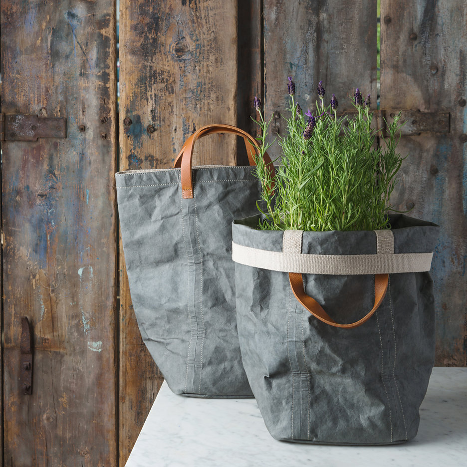 Charcoal grey shopper bag Uashmama