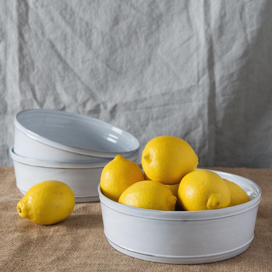 Provencal white dishes french ceramics